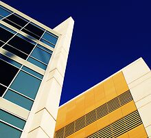 Highrise with Blue Sky by Christine Lake