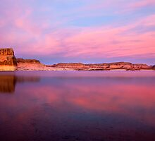 Lone Rock Sunset by DawsonImages