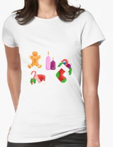 Christmas icons Womens Fitted T-Shirt