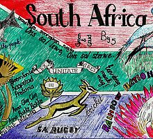 South Africa Doodle by Susan van Zyl