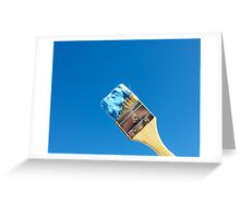 Painting the Sky Blue Greeting Card