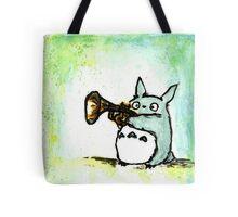 Totoro Watercolour (Trumpet) -Studio Ghibli Tote Bag