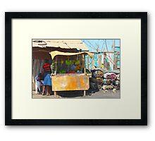 Fruit Market in Nairobi, KENYA Framed Print