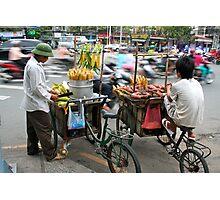 Saigon Street Vendors Photographic Print