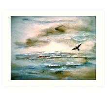 Nova Scotia...Where the Sea Meets the Sky.. Art Print
