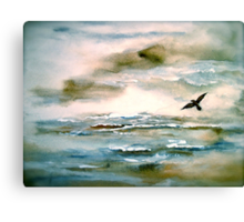 Nova Scotia...Where the Sea Meets the Sky.. Canvas Print