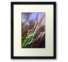 holly leaf abstract Framed Print