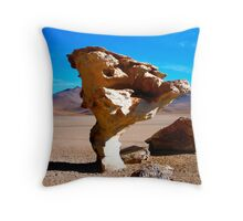 Stone Tree - Salar de Uyuni - Bolivia Throw Pillow