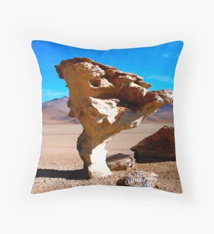 Stone Tree - Salar de Uyuni - Bolivia Throw Pillow
