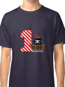 Customizable pirate first birthday geek funny nerd Classic T-Shirt