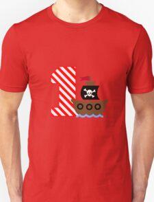 Customizable pirate first birthday geek funny nerd Unisex T-Shirt