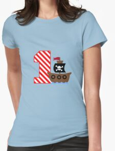 Customizable pirate first birthday geek funny nerd Womens Fitted T-Shirt