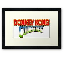 Donkey Cong Country Framed Print