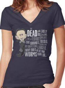 Dolorous Edd Women's Fitted V-Neck T-Shirt