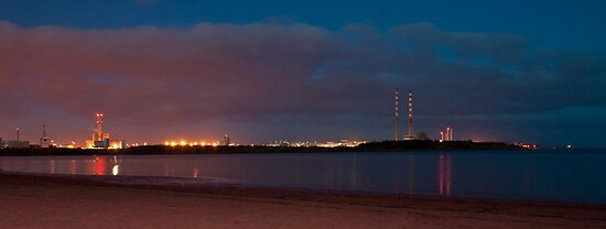 Night sky over Sandymount by Fatboy