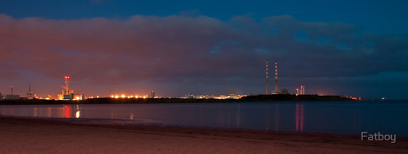Night sky over Sandymount by Fatboy