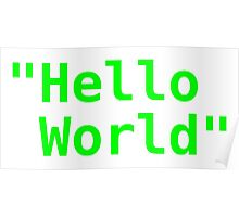 Hello world ! Poster