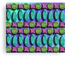 Diatom Green Blue Yellow Hue Duvet Canvas Print