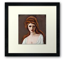 Lady Hamilton as Circe after G Romney Framed Print