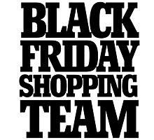 Black friday shopping team Photographic Print