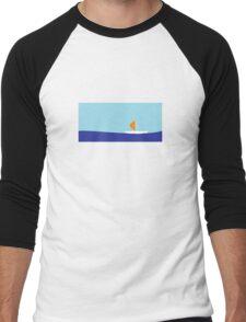 Sailing on the river Men's Baseball ¾ T-Shirt