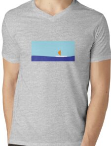 Sailing on the river Mens V-Neck T-Shirt