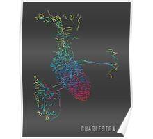 Charleston, SC - Rainbow City Map Poster