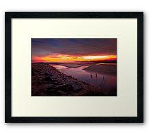 The colors of night Framed Print