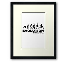 Evolution of basketball sport nba geek funny nerd Framed Print