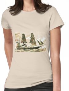 The Arctic Store Ship Valorous, Arctic expeditions of 1875-6  Womens Fitted T-Shirt