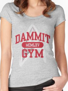 Dammit Gym 1965 Women's Fitted Scoop T-Shirt