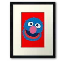 Grover head geek funny nerd Framed Print