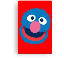 Grover head geek funny nerd Canvas Print