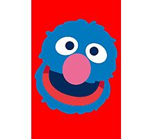 Grover head geek funny nerd Photographic Print