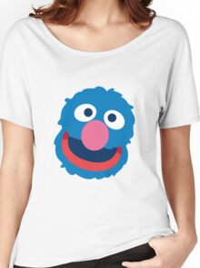 Grover head geek funny nerd Women's Relaxed Fit T-Shirt