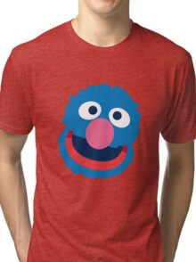 Grover head geek funny nerd Tri-blend T-Shirt