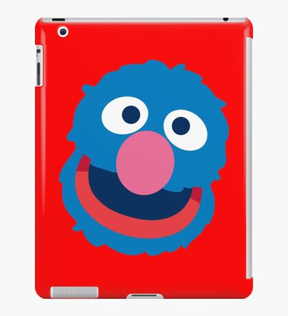 Grover head geek funny nerd iPad Case/Skin