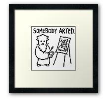 Leonardo Somebody Arted  Framed Print