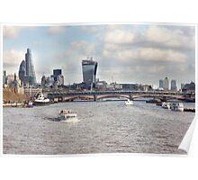 London Blackfriars Bridge Poster