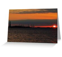 Hudson River Sunset Greeting Card