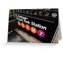 5th Avenue Subway Station Greeting Card