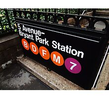 5th Avenue Subway Station Photographic Print