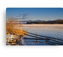 Winter Dusk on Lake Rieg Canvas Print