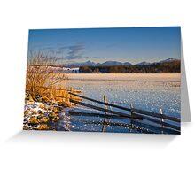 Winter Dusk on Lake Rieg Greeting Card