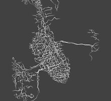 Charleston, SC - Black and White City Map by ScribbledCity