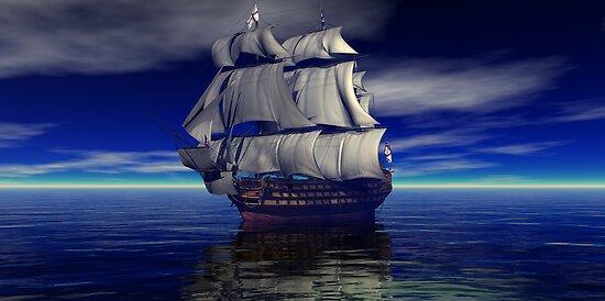 Trafalgar Bound for Glory HMS Victory by Sazzart