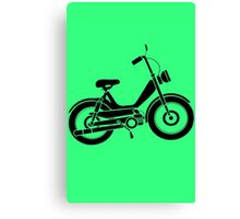 Moped bike cycle Fun geek funny nerd Canvas Print