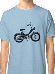 Moped bike cycle Fun geek funny nerd Classic T-Shirt