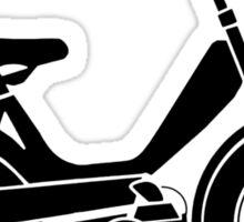 Moped bike cycle Fun geek funny nerd Sticker