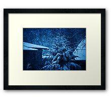 Winter at Night Framed Print
